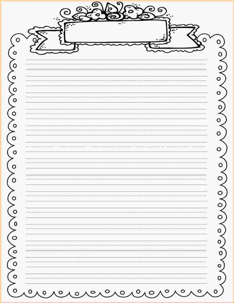 printable writing paper upper elementary lined paper printable with border world of printables