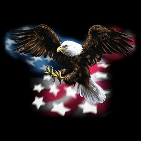 dickies black work shirt custom design patriotic eagle usa