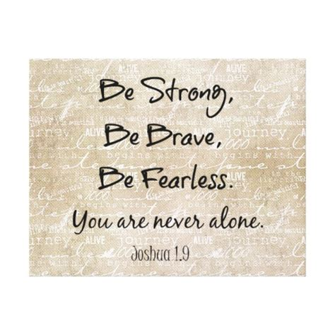 verses for be strong brave fearless bible verse quote canvas print