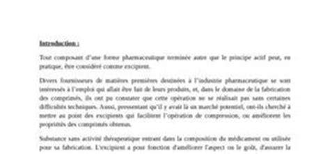 excipients pharmaceutiques auxiliaires pharmaceutiques
