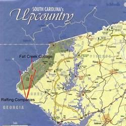 map of northwest carolina lodging rafting chattooga river south carolina vacation