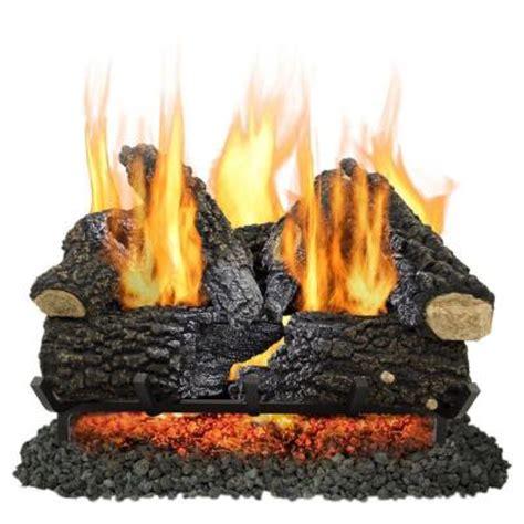 pleasant hearth arlington ash 24 in vented gas log set vl