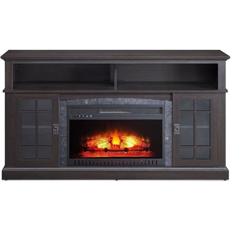 media fireplace tv stand tvs up to 65 quot black white