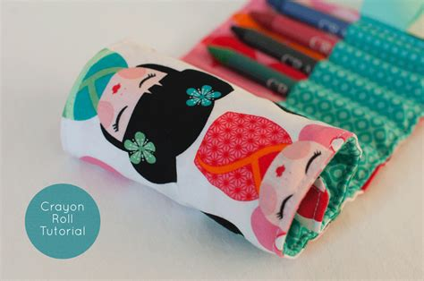 pattern for crayon roll up crayon roll tutorial plush addict