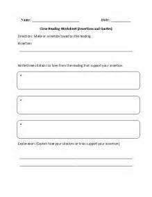 reading comprehension worksheets close reading reading