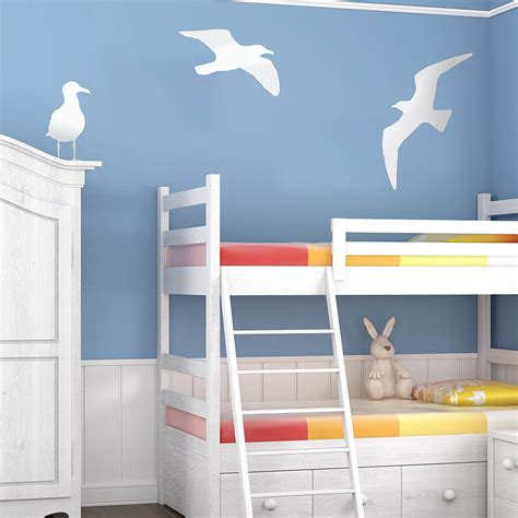 seaside wall stickers seagull vinyl wall sticker by oakdene designs