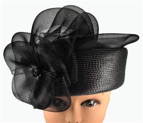 womens black church formal dress hat ebay