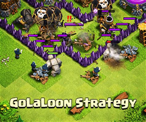 golaloon attack strategy clash of clans land gems giveaway