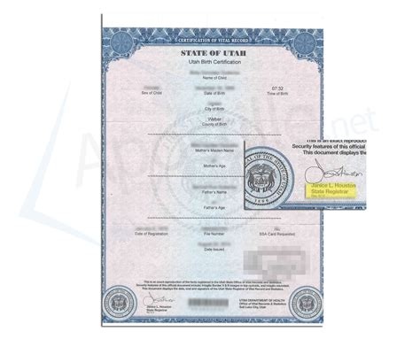 Birth Records Utah Utah Apostille Apostille Service By Apostille Net