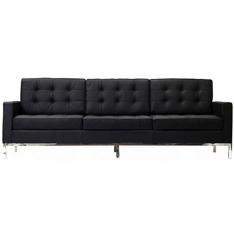 Leather Look Sofas Florence Knoll Style Sofa Leather