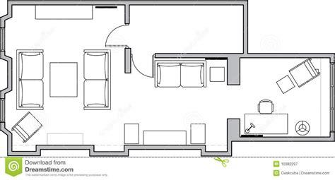 De vloerplan van de architectuur royalty vrije stock