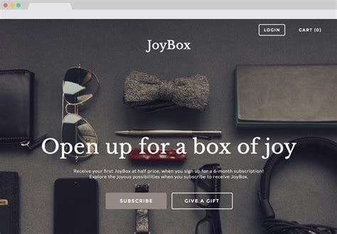 Templates And Themes For Subscription Box Websites Cratejoy Subscription Box Website Template