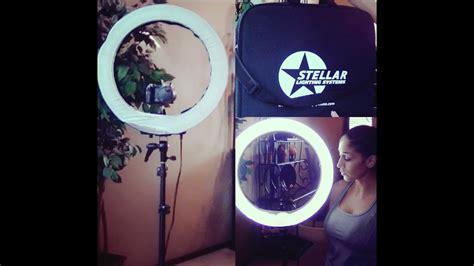 circle light for filming stellar ring light review