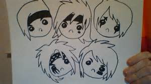 Chibi black veil brides drawing