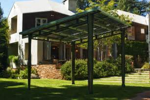 Awning Structures Prefab Solar Awning Provides Outdoor Shade And Solar Power