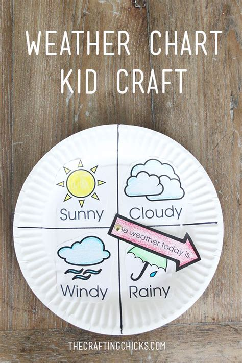 weather crafts for weather chart kid craft weather chart and craft