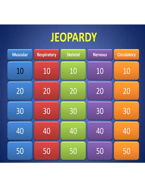 Sle Template Of Jeopardy Powerpoint Free Download Jeopardy Review Template Powerpoint