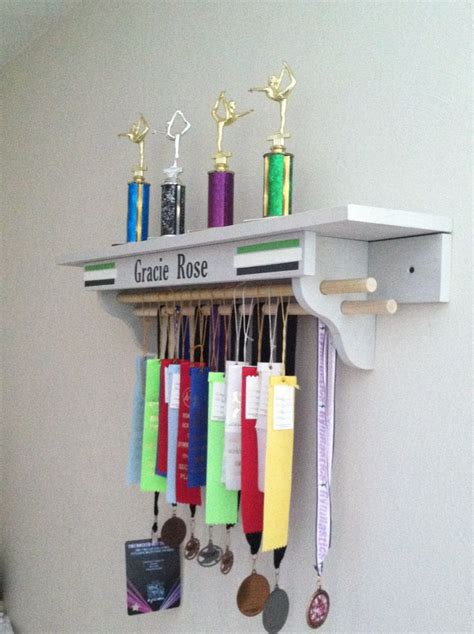 Gymnastics Trophy And Medal Shelf by Trophy Shelf Space For Ribbons Not The Best Design