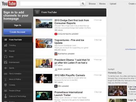 youtube site layout trip down memory lane early designs of popular sites