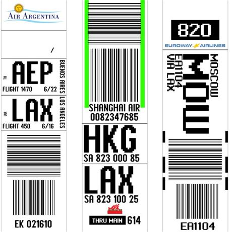 airline luggage tag template portfolio gallery