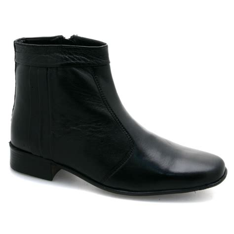 zip up mens boots mens zip up pleated ankle black leather boots ebay