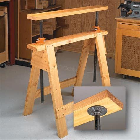 sawhorse bench adjustable sawhorses woodsmith tips taller de