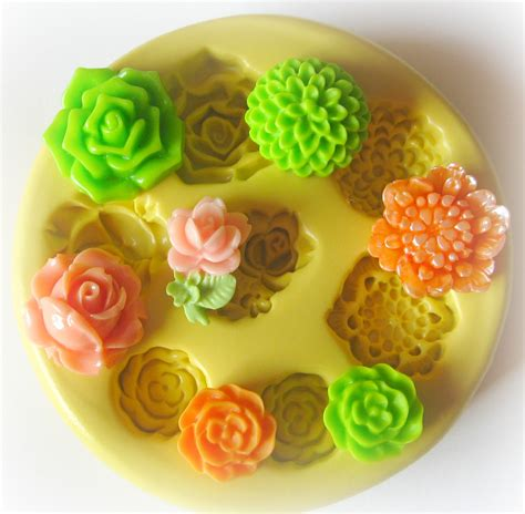Fondant Mold silicone flower mold fondant clay resin cabochon