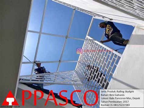 Railing Skylight Atap Rumah di Pancoran Mas Depok   Jual