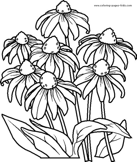 flower page printable coloring sheets flowers coloring