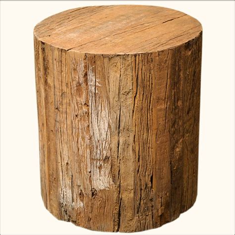 Trunk Stool unique solid hardwood tree trunk wood step