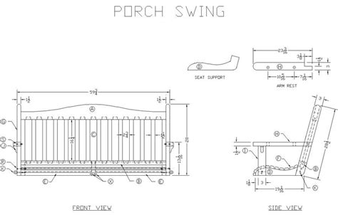swing plan printable porch swing plans plans table plan generator