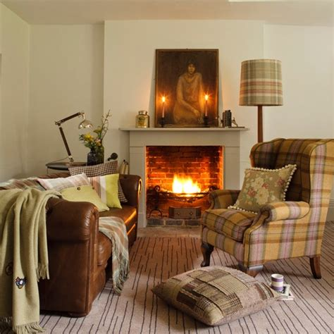 country living room decor country living room with plaid accents living room