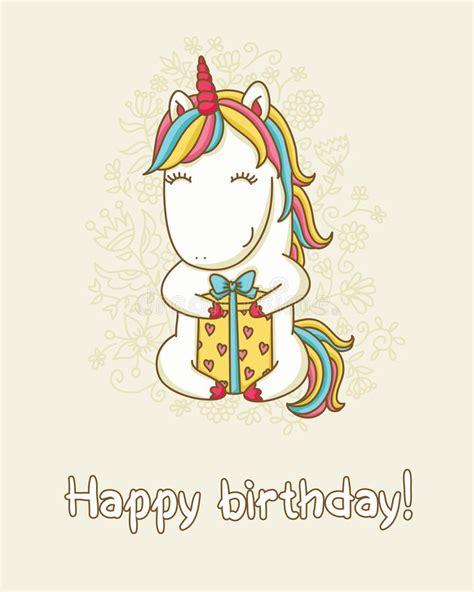clipart auguri compleanno biglietto di auguri per il compleanno con l unicorno