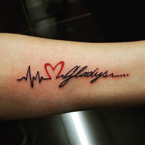 lifeline tattoo with name line