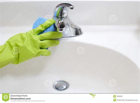 cleaning bathroom sink cleaning bathroom sink stock image image 4828591