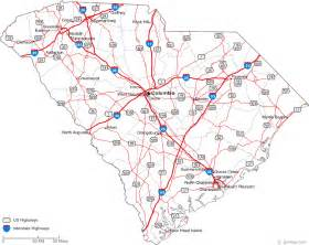 carolina state map with cities map of south carolina