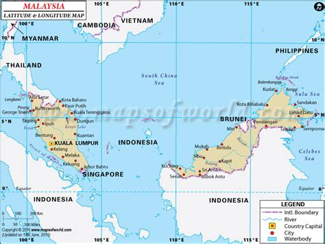 Find Malaysia Malaysia Latitude And Longitude Map