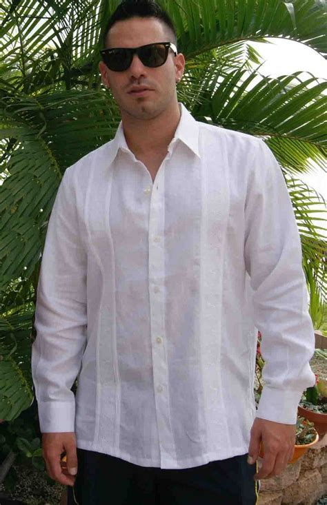 Non Pockets Wedding Guayabera Premium Linen Long Sleeve