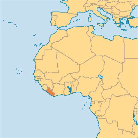 where is liberia located on the world map liberia map of the world