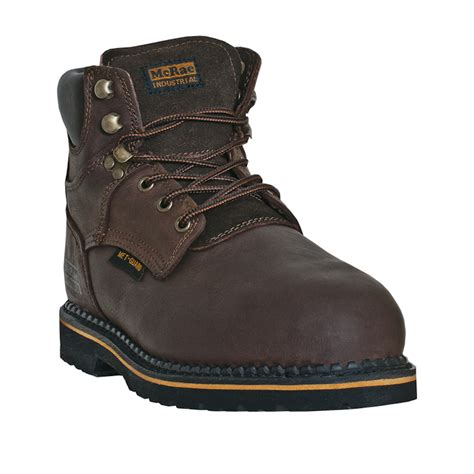 steel toe boots with metatarsal guard mcrae industrial mens brown 6 steel toe metatarsal guard
