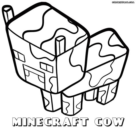 minecraft coloring pages cow 80 minecraft coloring pages golden apple 37 awesome
