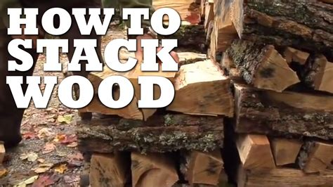 in the best way the best way to stack wood