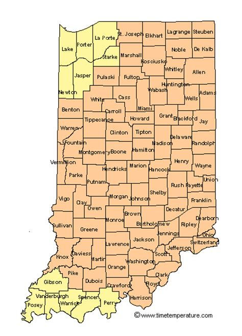 us time zone map indiana current time in indiana