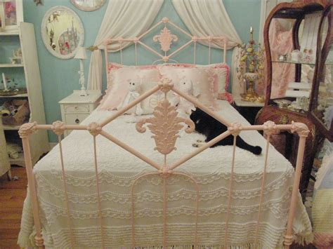 Shabby Chic Bed Frame Shabby Chic Antique Bed Frame Pink Wrought Iron