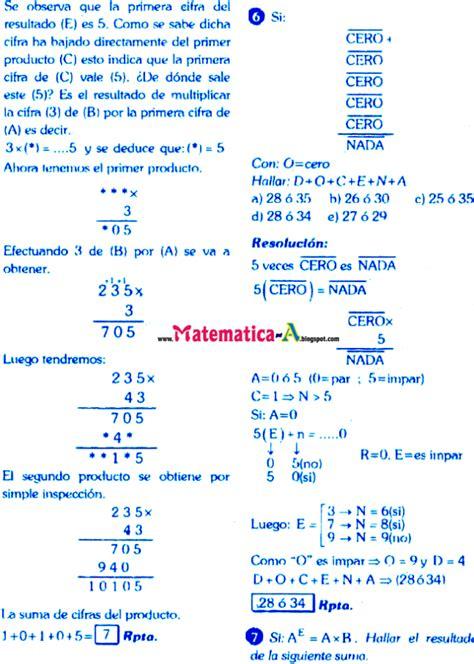 imagenes de matematicas resueltos criptoaritmetica ejercicios desarrollados y problemas con