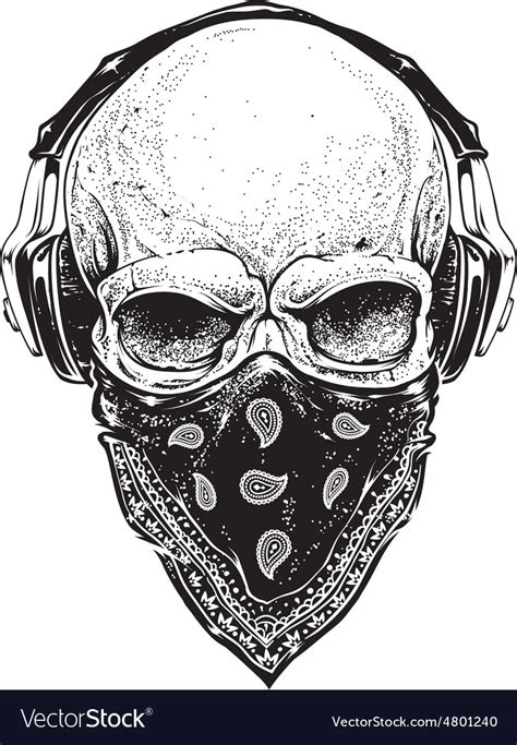 Skull Headphones skull with headphones royalty free vector image