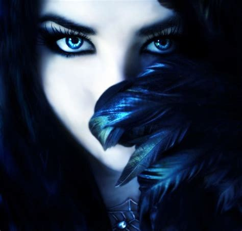 beautiful dark colors black hair ice blue eyes beautiful dark witch with