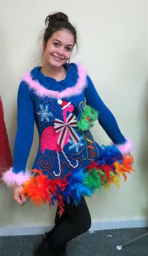 tacky light up sweaters pink flamingo tropical light up tacky sweater dress sweater ideas