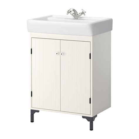 Ikea Vanity Basins Silver 197 N Hamnviken Sink Cabinet With 2 Doors White 23 5 8x17 3 4x35 5 8 Quot Ikea