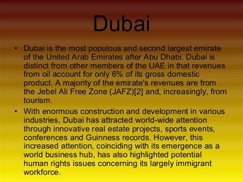 Essay About Impacts On Tourism by Essay On Dubai Tourism